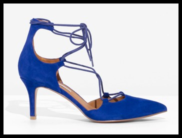 Other stories suede lacing pumps