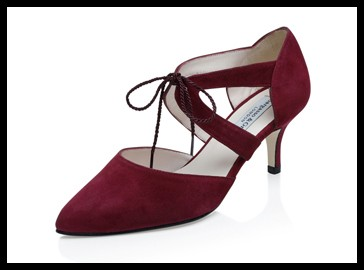 ava maroon wide fit lace up kitten