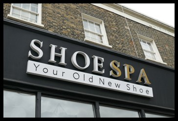 Shoe Spa sign