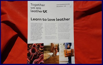 Learn to love leather leaflet Leather UK