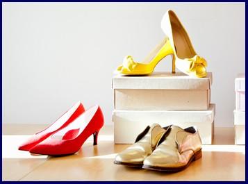 pop up shoe shop three pairs