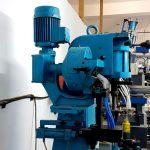Blue shoe making machine