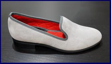Women's smoking slipper loafer shoe