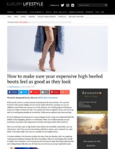 How to make sure your expensive high heeled boots feel as good as they look - Luxury Lifestyle Mag