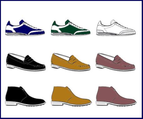 full wardrobe of shoes men's