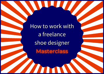 How to work with a freelance shoe designer sunburst graphic with text